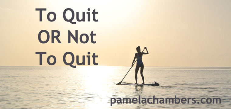 Quitting, success, dreams, pamela chambers.com, career, coaching, counseling, quitting